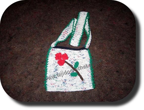 cartera nena en tejido crochet