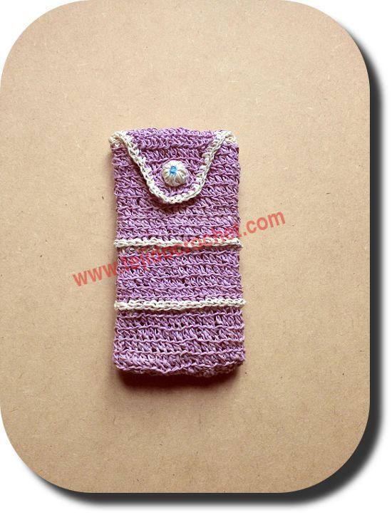 Porta celular a crochet