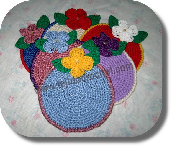 Posavasos en tejido crochet