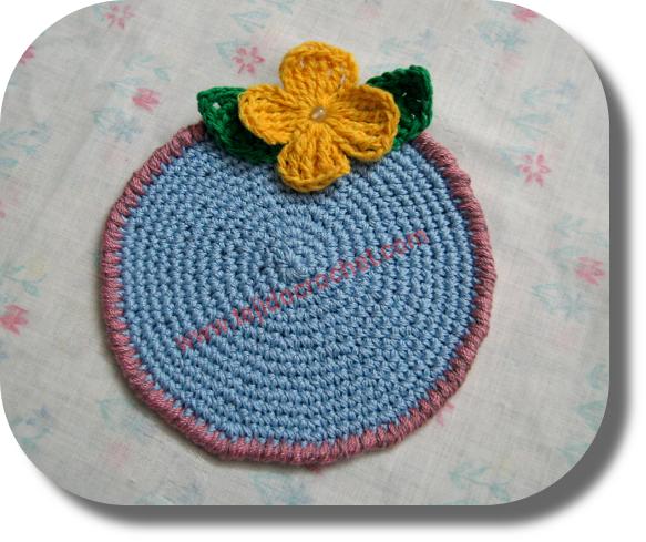 Posavaso en tejido crochet