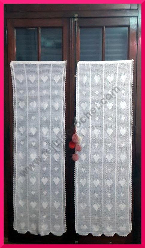 Cortinas en tejido crochet