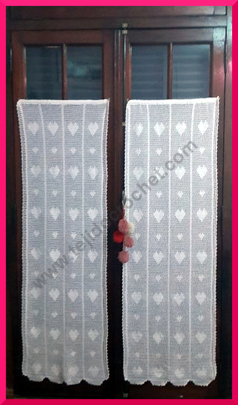 Cortinas en tejido crochet o ganchillo, modelo romántico. – TEJIDO ...