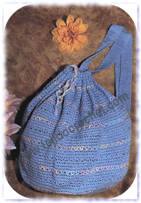 Mochila en tejido crochet
