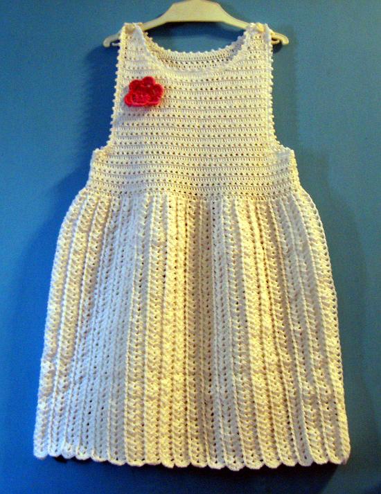 vestido Solero Bebe Crochet