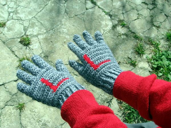 Guantes crochet para niños