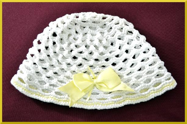 Gorro a crochet para bebe