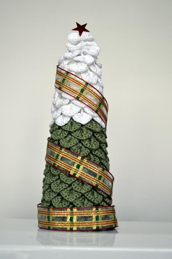 Árbol a crochet para Navidad