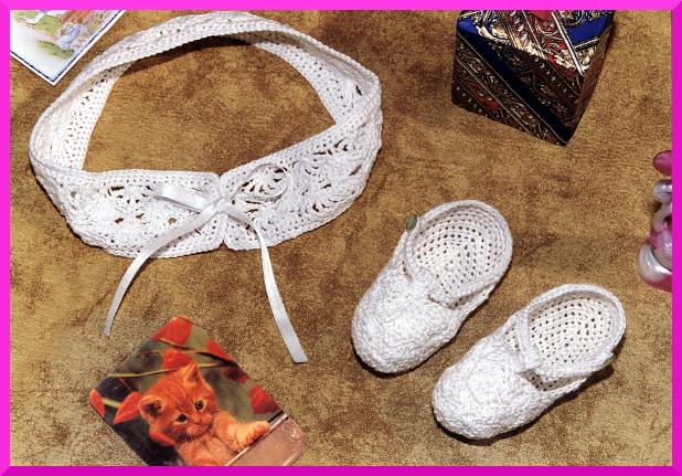 Vincha y sandalias crochet para bebe